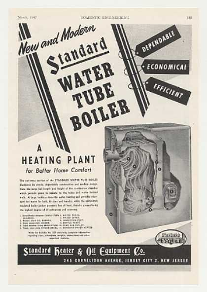Standard Heater Water Tube Boiler Heating (1947)