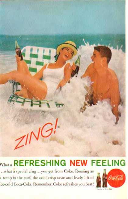 Coke – Catching Waves – ZING! – Refreshing New Feeling (1961)