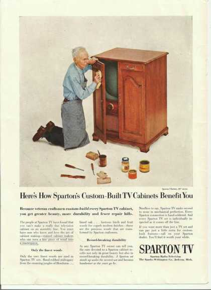 Sparton Custom Built Tv Cabinets (1955)