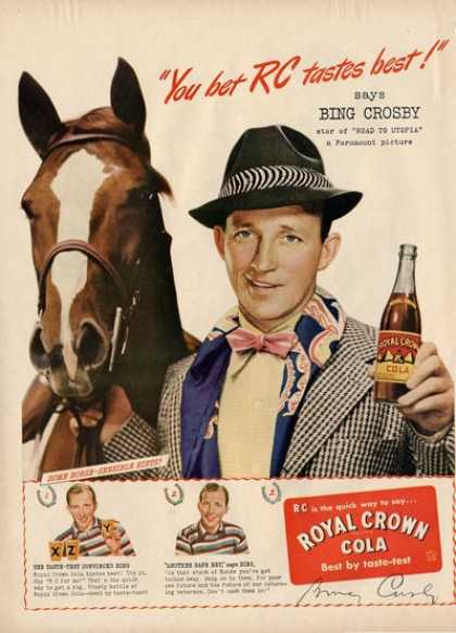 Royal Crown Cola Bing Crosby Road To Utopia Ad T (1946)