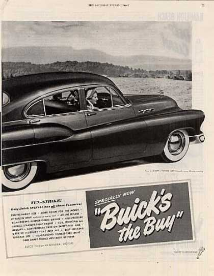 "Buick Car 2 Page Ad ""Looks Like a Jet Plane... (1949)"