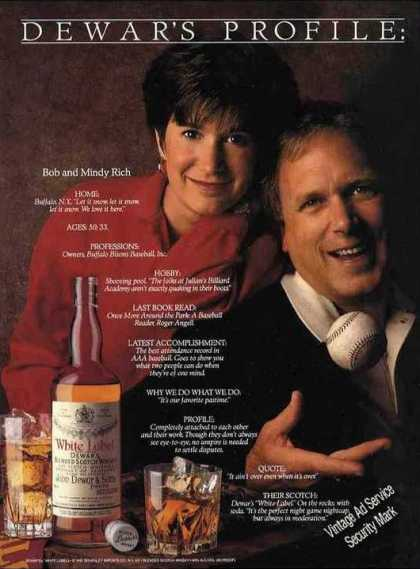 Dewar's Scotch Bob & Mindy Rich Buffalo Bisons (1992)