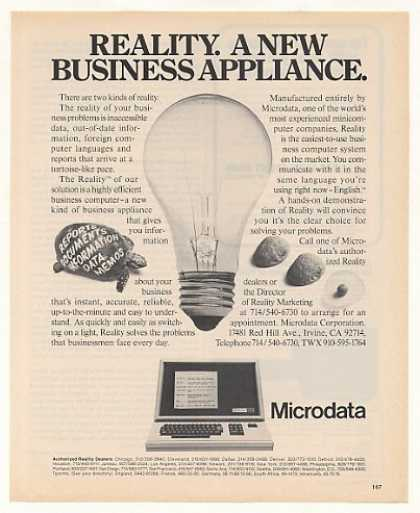 Microdata Reality Business Computer Sys (1975)