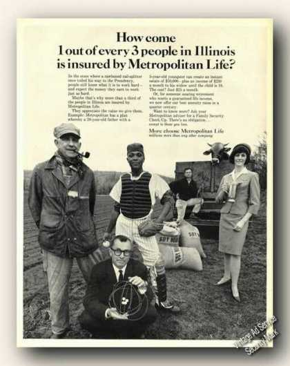 Metropolitan Life 1 of Every 3 In Illinois (1965)