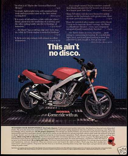 Honda Hawk Motorcycle Photo (1989)