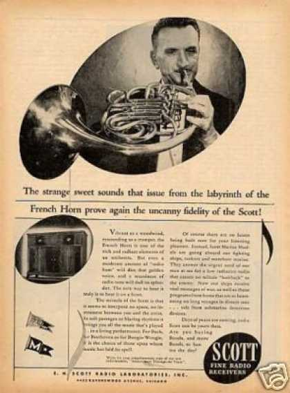 Scott Radio Ad French Horn (1944)
