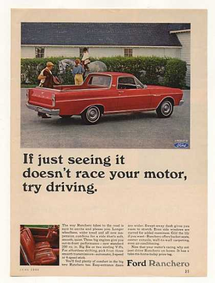 Red Ford Ranchero Seeing It Race Your Motor (1966)