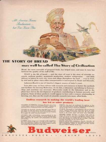 Story of Bread Budweiser Beer (1942)