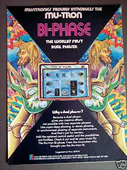 Mu-tron Bi-phase Guitar Phaser Print Ad Great Art (1975)