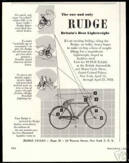 Rudge Britain's Lightweight Bike Bicycle (1950)