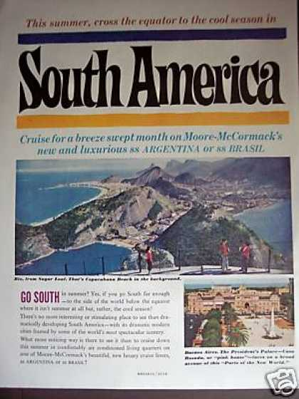 Moore Mccormack Cruise Line South America Photo (1960)