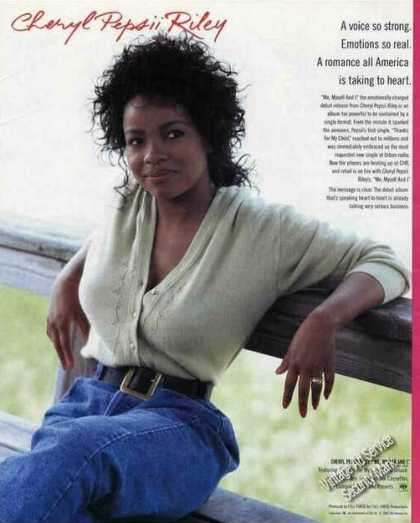 "Cheryl Pepsii Riley Photo ""Me, Myself and I"" (1988)"