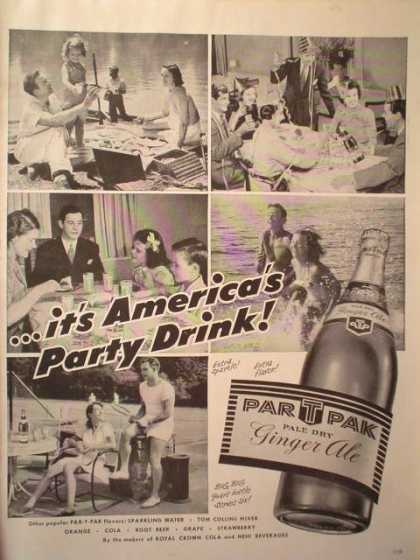 Par T Pak Ginger Ale. America's party drink (1951)