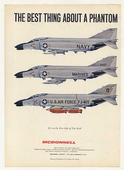 Navy Marines Air Force McDonnell Phantom Photo (1963)