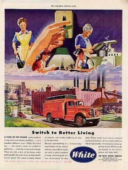 "White Truck Ad ""Switch To Better... (1946)"