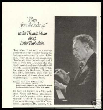 Artur Rubinstein Photo Mann Review (1950)