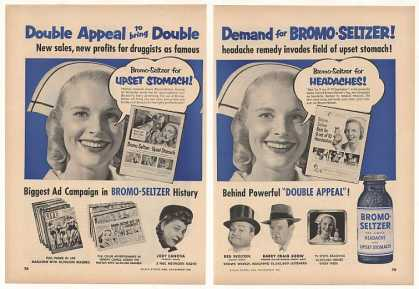 Bromo-Seltzer Nurse Double Appeal 2-Page Trade (1952)