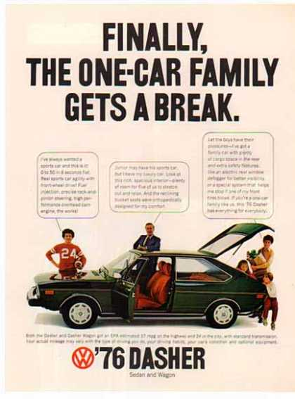 Volkswagen Car – Dasher – Green (1976)