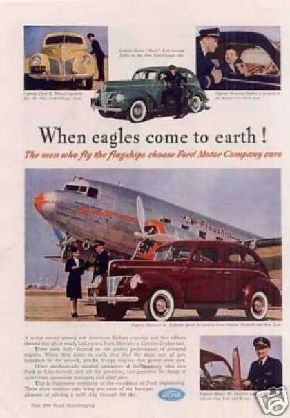 "Mercury Car Ad ""When Eagles Come... (1940)"