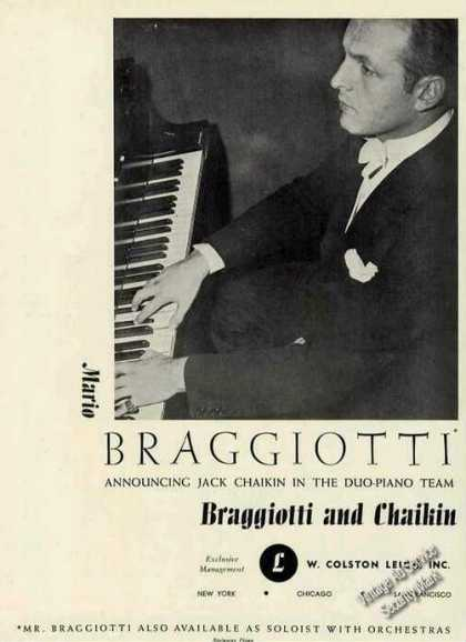Mario Braggiotti Photo Piano Booking (1946)