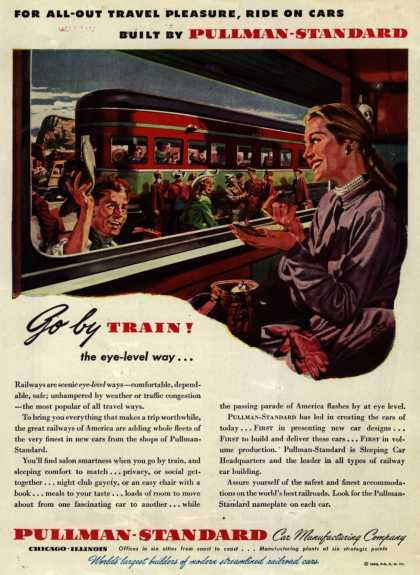 Pullman-Standard Car Manufacturing Company – For All-Out Travel Pleasure, Ride On Cars Built By Pullman-Standard (1946)