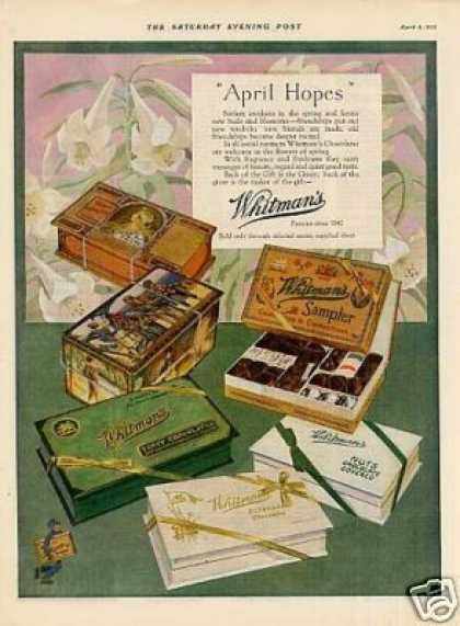 "Whitman's Chocolate Candy Ad ""April Hopes"" (1925)"