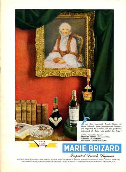 Marie Brizard French Liqueurs Bottle (1951)