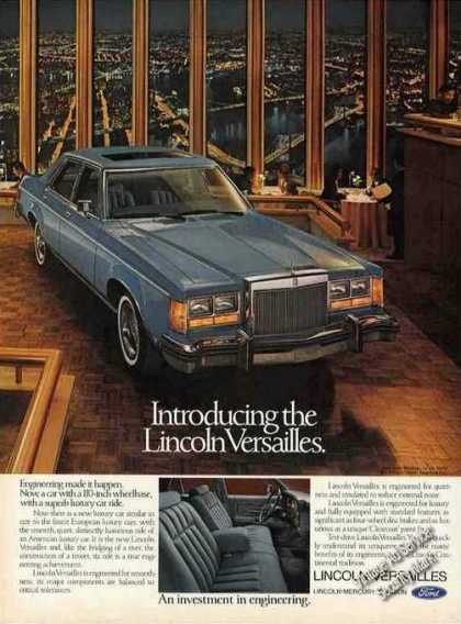 "Lincoln Versailles ""Investment In Engineering"" (1977)"