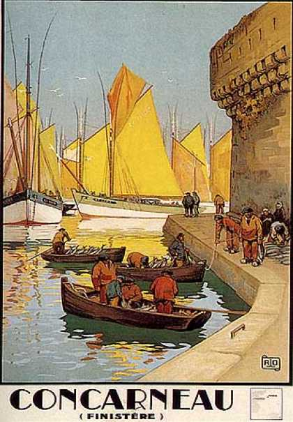 Concarneau by Charles Allo (1930)