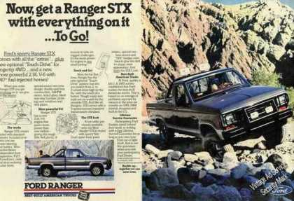 Ford Ranger Stx Collectible Large Photo (1986)
