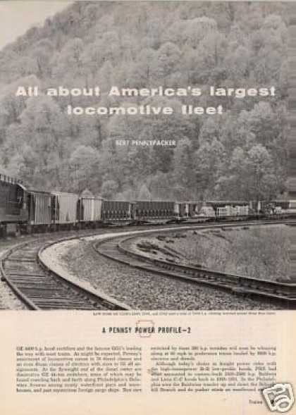 """America's Largest Locomotive Fleet"" Article/prr (1964)"