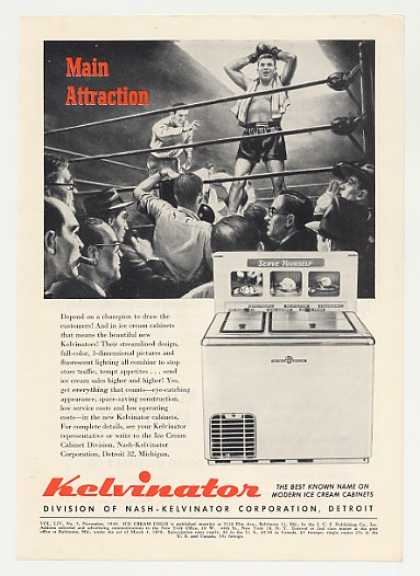 Kelvinator Ice Cream Cabinet Boxing art Trade (1949)