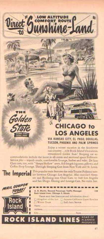 Rock Island Railroad – The Golden State Run (1949)