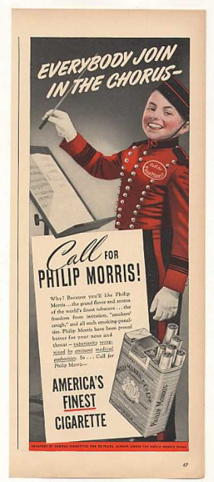 Philip Morris Cigarette Bellhop Music Conductor (1940)