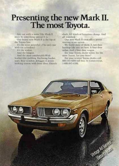 "Toyota Mark Ii Photo ""Top of the Line"" (1972)"