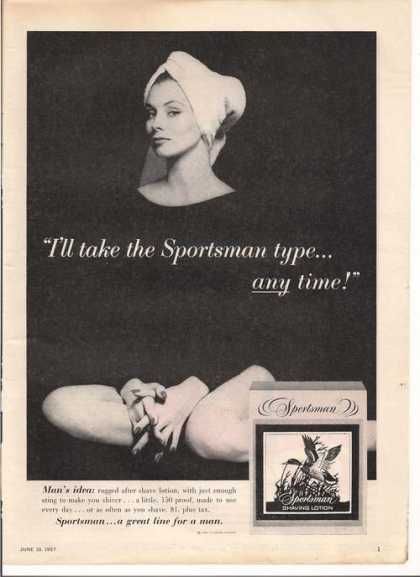 Sportsman Men Shaving Lotion (1957)
