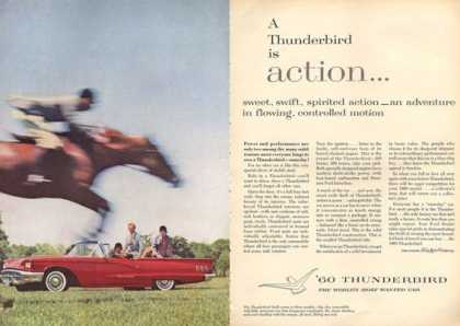 Ford Thunderbird Convertible Ad Dressage Horse (1960)