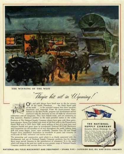 They've Hit Oil In Wyoming Art National Supply (1944)