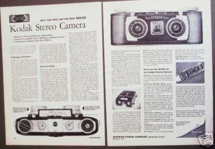 Kodak Stereo Camera Original 2pg Photo (1954)