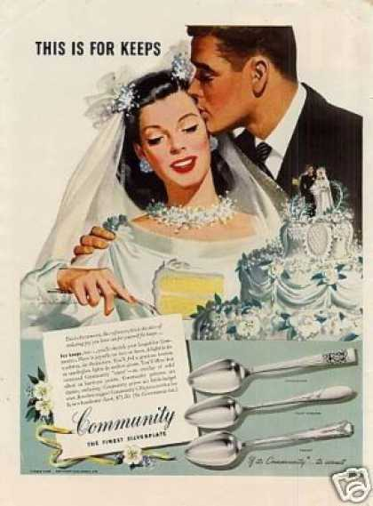 Community Silverplate Ad Whitcomb Art (1946)