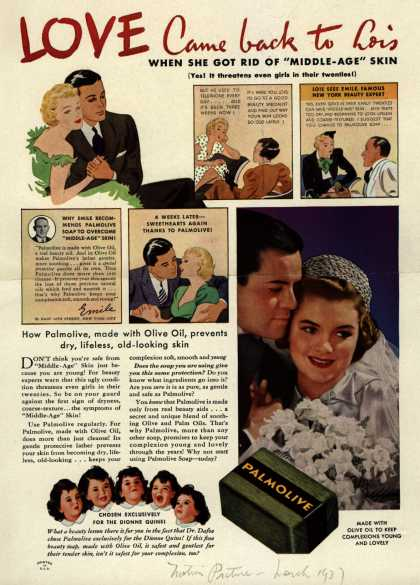 Palmolive Company's Palmolive Soap – LOVE Came back to Lois (1937)