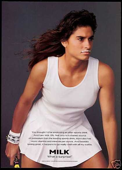 Gabriela Sabatini Photo Tennis Milk Promo (1995)
