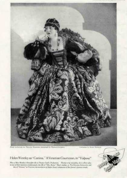 "Helen Westley As ""Canina"" In ""Volpone"" Picture (1928)"