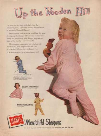 Hanes Merrichild Sleepers for Infants (1949)