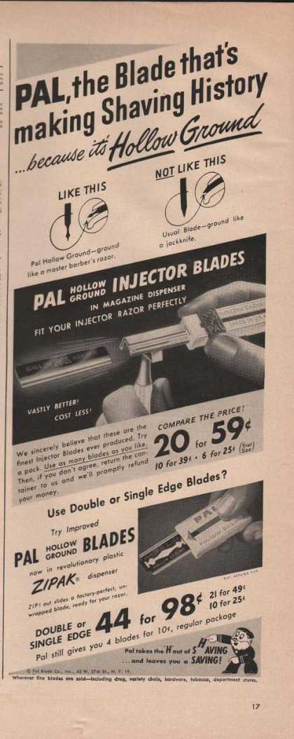 Pal Hollow Ground Razor Blade (1949)