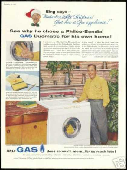 Bing Crosby Photo Philco Washer Dryer (1957)