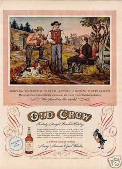 "Old Crow Whiskey Ad ""Daniel Webster Visits... (1952)"