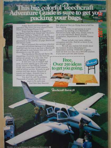 Beechcraft Airplanes Plane Adventure Guide (1977)