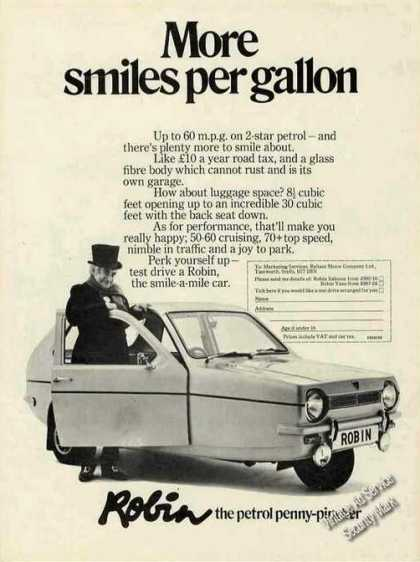 Robin the Petrol Penny-pincher Photo Uk Car (1974)