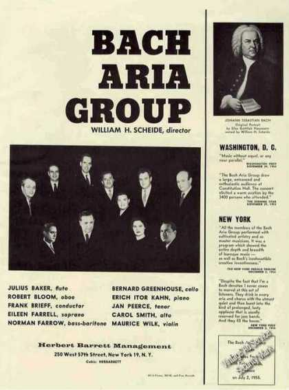 Bach Aria Group Photo Booking (1955)